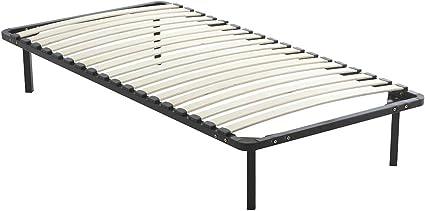DEWINNER - Somier de láminas sobre patas, 7 patas incluidas, cama (90 x 190 cm)