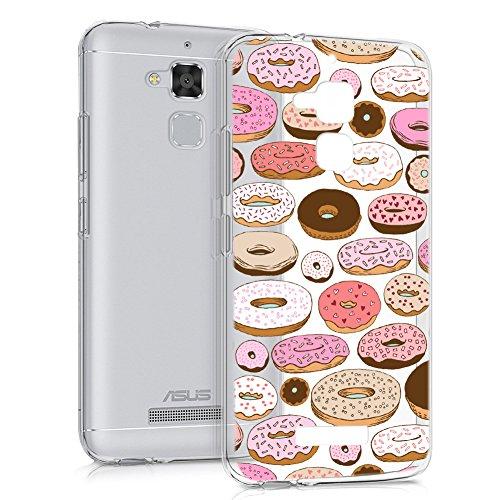 Eouine Funda ASUS Zenfone 3 MAX 5.2, Cárcasa Silicona 3D Transparente con Dibujos Suave TPU Impresión Patrón Bumper Case Cover Fundas para Movil ASUS Zenfone 3 MAX 5.2 ZC520TL (Donuts)