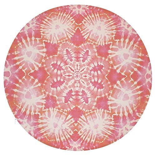 Cojín redondo para silla, cojín redondo de espuma viscoelástica para taburete, diseño hippie de tie-dye abstracto, cojín decorativo para el suelo