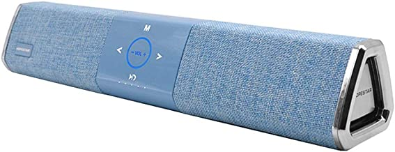 Bluetooth Speaker 20W High Power Waterproof Touch Control Long Home Theater Audio Card (Color : Blue) photo