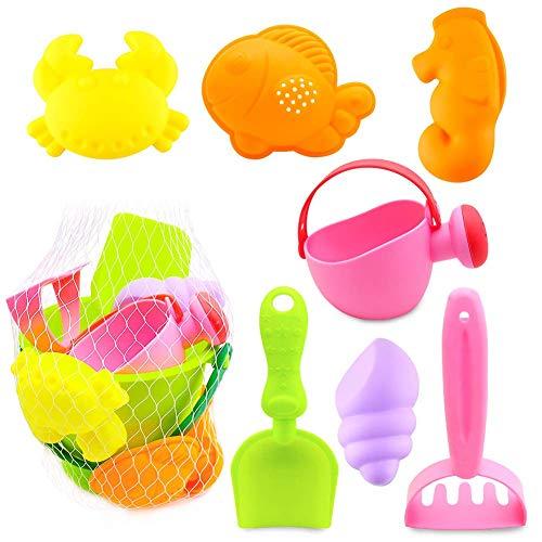 AugSep Sandspielzeug-Set für Kinder, 8-teilig, Sandspielzeug, Strandspielzeug, Sandkasten-Spielzeug,...