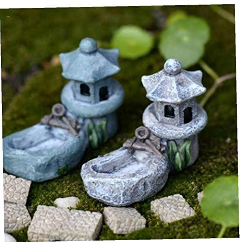 Case&Cover Miniatura Mini Piscina Torre del Paisaje DIY del Ornamento Decoración De Jardín De Resina - - Mejores Interior 2pcs Decoraciones Aire Libre