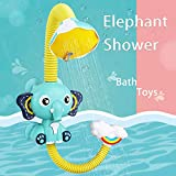 Fajiabao Baby Bath Toys Elephant Bath Toy Shower Water Toys Toddler Bathtub Toy with Bathing Suction Cups for...