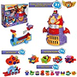 SuperZings Serie 5 - Power Tower Assault y Pack Sorpresa con 16 Sets | Contiene Juguete Tower Power Assault, 10 Sobres One Pack, 4 Aerowagons y 2 Skyracers | Juguetes y regalos para Niños y Niñas