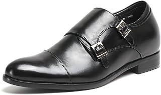 CHAMARIPA(JP) シークレットシューズ 身長7cmUP ビジネス モンクストラップ 上げ底 紳士靴 インソール 本革 ストレートチップ H81X92K071D