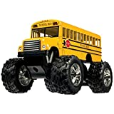 Rhode Island Novelty 5 Inch Die-cast Metal School Bus Big Wheel Monster Truck One School Bus