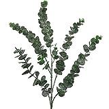 Aisamco Paquete de 3 Hojas de Eucalipto Spray con 5 Tallos Ramas de Plantas de Eucalipto Artificial Plantas de Vegetación Artificial en Verde Gris para la Decoración del Hogar de la Fiesta de Bodas