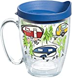 Tervis 1259435 Retro Camping Insulated Tumbler with Wrap and Blue Lid, 16oz Mug, Clear camping backpacks May, 2021