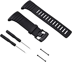 Sencato Suunto Core Upgraded Version of Soft Rubber Replace Band, (A/B Style Available Select) Smart Watch Wrist Strap, Black