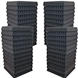 AK TRADING 48 Pack- Acoustic Panels Studio Soundproofing Foam Wedges 2' X 12' X 12'