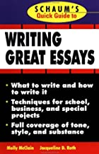 Schaum's Quick Guide to Writing Great Essays (Quick Guides)