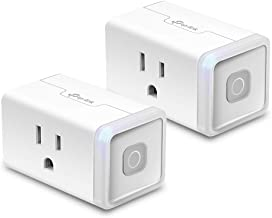 TP-Link HS103P2 10 Amp Mini Smart Plug 12 Amp & Reliable Wifi Connection, Compact Design, No Hub Required, Works With Alexa Echo & Google Assistant, 2-Pack, White