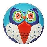 BORPEIN Pelota de fútbol Pro de 15,2 cm para niños, bola de espuma estilo animal bosque, suave y rebozosa, tamaño perfecto para niños (búho)