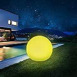 Solarlampen für außen, infray solarkugel für außen, Solarleuchten für außen, Solarleuchten Garten 30cm Solarkugel mit 9 Modi Leuchte, 1800mAh IP67 Wasserdicht LED Solarleuchten [Energieklasse A+++]