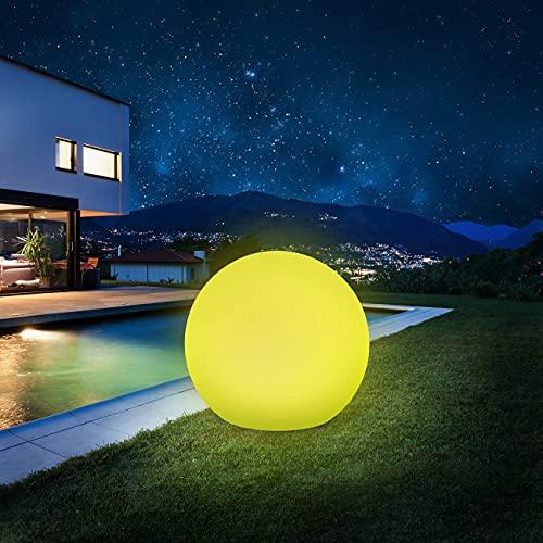 Solarlampen für außen, infray solarkugel für außen, Solarleuchten für außen, Solarleuchten Garten 30cm Solarkugel mit 9 Modi Leuchte, 1800mAh IP67 Wasserdicht LED Solarleuchten