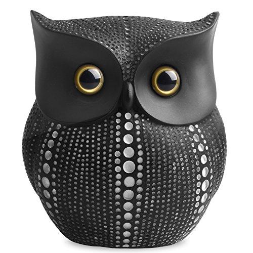 Figura decorativa de búho para decoración del hogar, diseño de búho, color negro