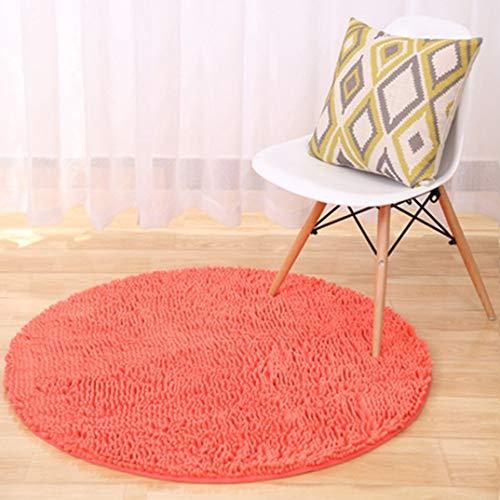 JWANS Alfombra Redonda Gruesa Suave Chenilla Color Sólido Dormitorio Área de la Cocina Alfombras Alfombra de Baño Antideslizante