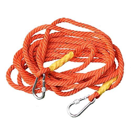 BJL Travaux aériens Cordes Installation de climatisation Protection contre les murs extérieurs Corde de sauvetage Corde de sauvetage Élingue, corde de nylon, Orange 16 mm, 15 tailles corde de sécurité