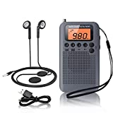 Portable Radio Mini Radio Pocket Size FM/AM Digital DSP Personal Radio with Speaker