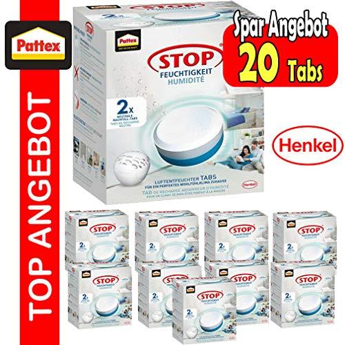 Pattex Stop Feuchtigkeit Pearl Luftentfeuchter Nachfüllpack/Gegen Feuchtigkeit und schlechte Gerüche/Geruchsneutralisierung bis zu 70% / 20 Nachfülltabs (20 x 300g)