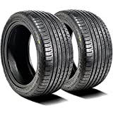Set of 2 (TWO) Accelera Phi 2 All-Season High Performance Radial Tires-285/30R19 285/30ZR19 285/30/19 285/30-19 98Y Load Range XL 4-Ply BSW Black Side Wall