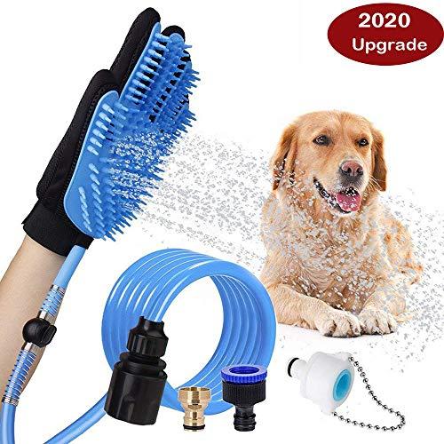 01 Haustier-Badwerkzeug, für Hunde und Katzen, mit 4 Wasserhahn-Adaptern, für die Fellpflege im Innen- und Außenbereich