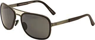 P'8553 P8553 C Dark Grey/Matte Burgundy Sunglasses 59mm