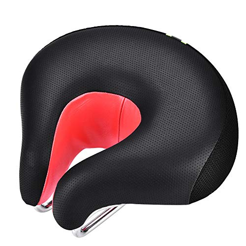 GOTOTOP Fahrradsitz, atmungsaktiv, bequemer Fahrradsitz, ergonomisches Sitzpolster für Rennrad, Geteilte Nasenform, Sattel