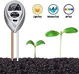 Orlegol Testeur de Sol, 3 en 1 Soil Tester Mètre d'humidité, Lumière et pH Acidité Testeur de Plante, pour Fleurs/Plante/Jardin/Ferme/Pelouse/Intérieur/Extérieur (Pas Besoin de Batterie)