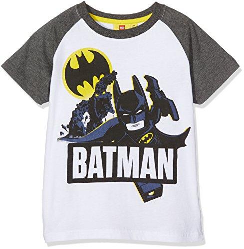 LEGO Batman Jungen 793-LegoBatman T-Shirt, weiß/grau, 10 Jahre