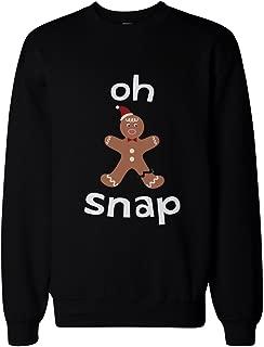 365 Printing Oh Snap Gingerbread Cookie Man with Broken Leg Funny X-Mas Unisex Sweatshirt