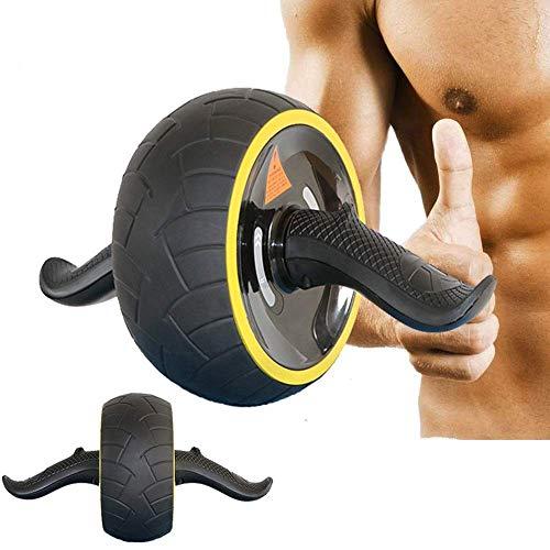 Jsmhh Core & Bauchtrainer AB Roller Rad for Bauch-Übung 3-Rad-Faltbarer Roller for Frauen und Männer mit Knien Resistance Band Bauchmuskeltraining Rad Übungs-Rad Roller S sit up trainingsgert