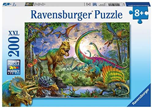 Ravensburger Italy-nel Regno dei giganti-Dinosauri Puzzle, 200 Pezzi XXL, Multicolore, 12718 4