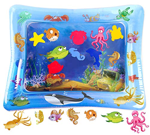 HISTOYE Tummy Time Water Mat for Babies Leakproof PVC Premium Inflatable Baby Water Mat Toys for...