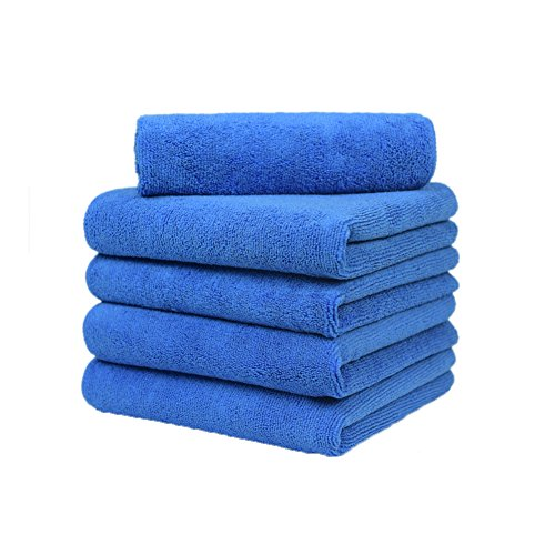 Microfiber Towels for Cars - 16x16 inch Lint Free Car Microfiber Towel - 5 Pack - 380gsm Microfiber Detailing Towels