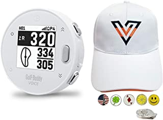 $89 » GolfBuddy Voice X Golf GPS/Rangefinder Bundle with 1 Volvik V-Logo Golf Hat (Adjustable), 5 Ball Markers and 1 Hat Clip - ...
