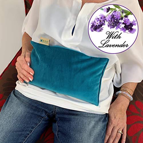Cheap KOYA Naturals Soft Velvet Rice & Flax Heating Pad Microwavable - Moist Heat Bag - Pad for Neck...