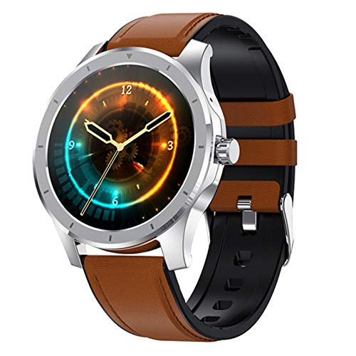 VBF Smart Watch, New MX10 Color Screen Damies Men Touch Full Touch Fitness Tracker Presión Arterial Reloj Inteligente Smartwatch para Android iOS,B