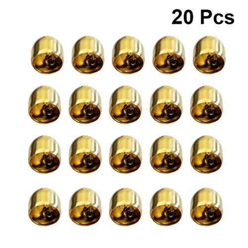 Exceart 20St Gouden Bellen Mini Jingle Bells Toon Klokken Diy Ambachtelijke Maken Accessoires Voor Windgong Tuin Opknoping Decoratie Ornamenten 28Mm
