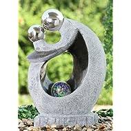 Granite Black Couple Spheres Feature