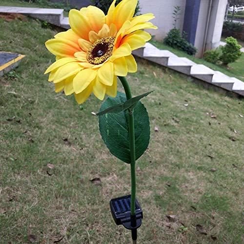 Solar-Sonnenblumen-LED-Lichter, wasserfest, solarbetrieben, für Garten, Landschaft, Terrasse, Weg, Auffahrt, dekorative Lampe