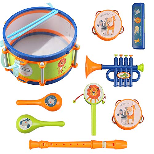 LBLA Toddler Musical Instrument Toys, Kids Drum Set,...