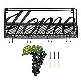 RANNYY Portavasos de Vino, Estante de Vino montado en la Pared Portavasos de Copa de Vino Estante de Almacenamiento de Vino Negro para Comedor