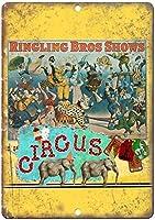 Ringling Bros Shows Circus ティンサイン ポスター ン サイン プレート ブリキ看板 ホーム バーために