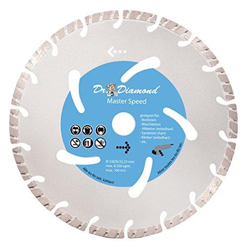 Diamante (Master Speed Diámetro 230–Disco de diamante para hormigón Bordillo