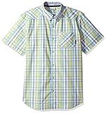 Columbia 男士 Decoy Rock Ii 短袖衬衫 Zest 格子图案 Large
