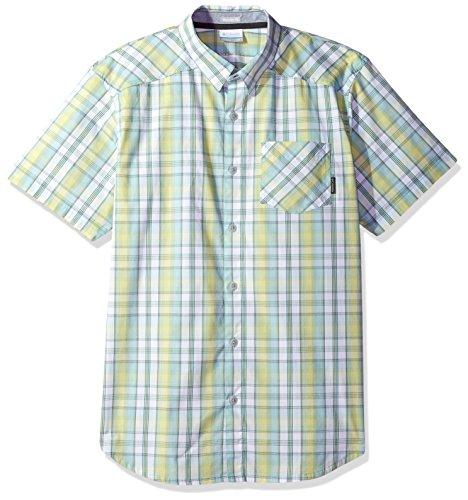 Columbia Herren Decoy Rock Ii Short Sleeve Sport-T-Shirt, Zest Plaid, Klein