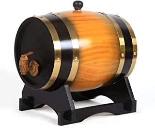ZHhome Fût de Chêne Seau en Chêne De 30 litres avec Coussin Intégré en Aluminium 10L for Stocker Vos Propres Whisky, Bièr...