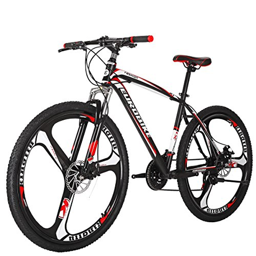Mountain Bike X1 Bicycle 27.5' 21Speed Duai Disc Brake Bike (K-Red)