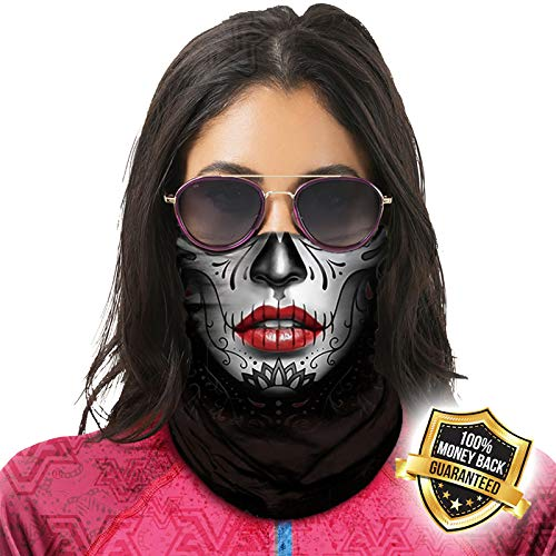 Multifunktionstuch Maske Schutzmaske 3D Bedrucktes Masken Halstuch Mundschutz UV-Staubschutz Sturmhaube Nahtlose Bandana Schlauchschal Herren Damen, Atmungsaktiv Face Shield Kopftuch Quick Drying